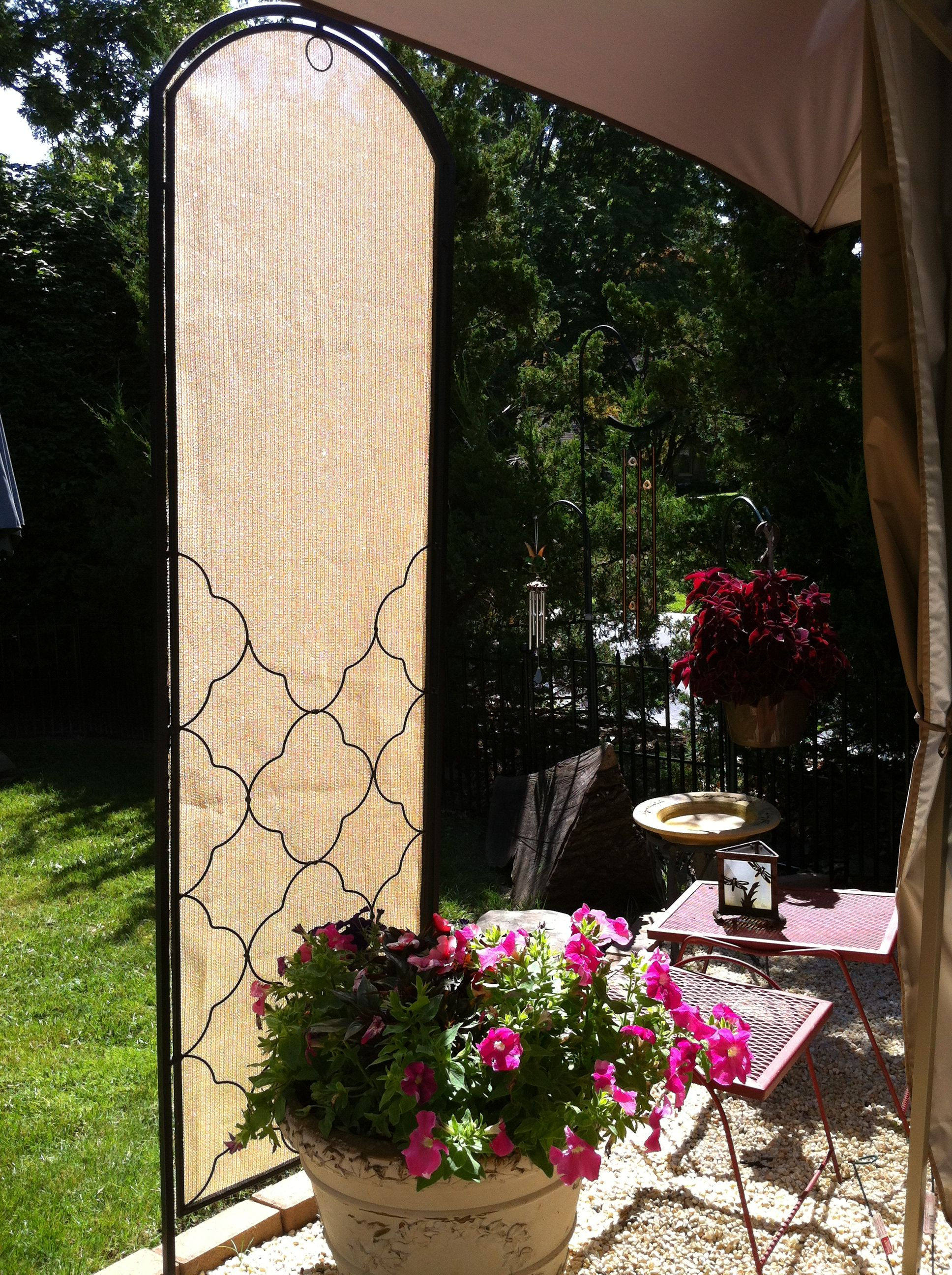 Diy Patio Privacy Screen Ideas: Voila! DIY Portable Patio Shade Screen! Works For Privacy
