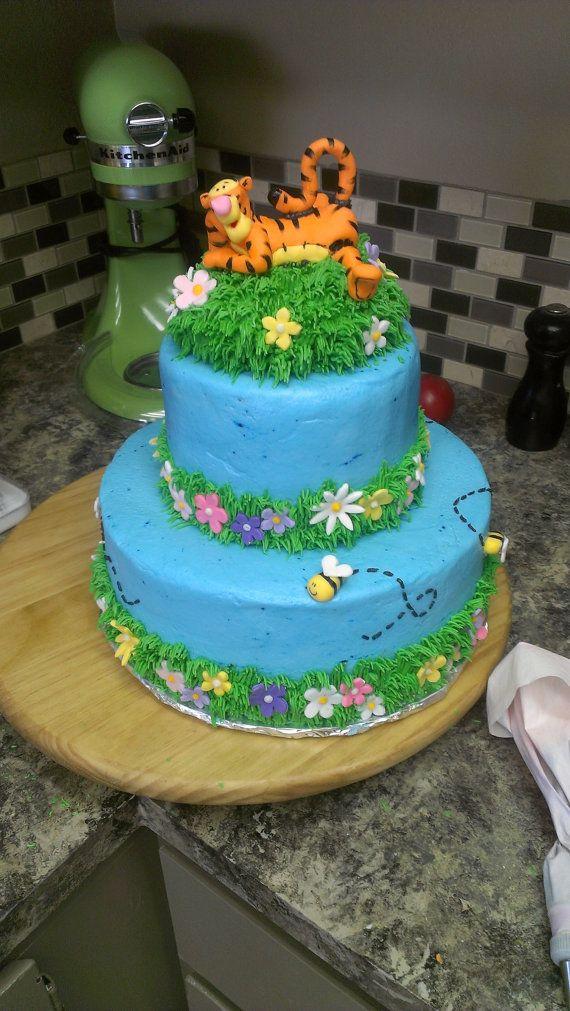 Tigger Fondant Cake Topper 2800 Via Etsy