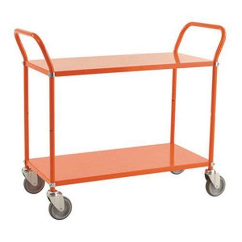 Tafelwagen gekleurde met 2 metalen plateaus - Draagvermogen 250kg
