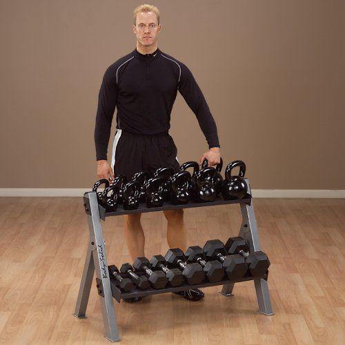 Body-Solid Dumbbell  Kettlebell Rack GDKR100