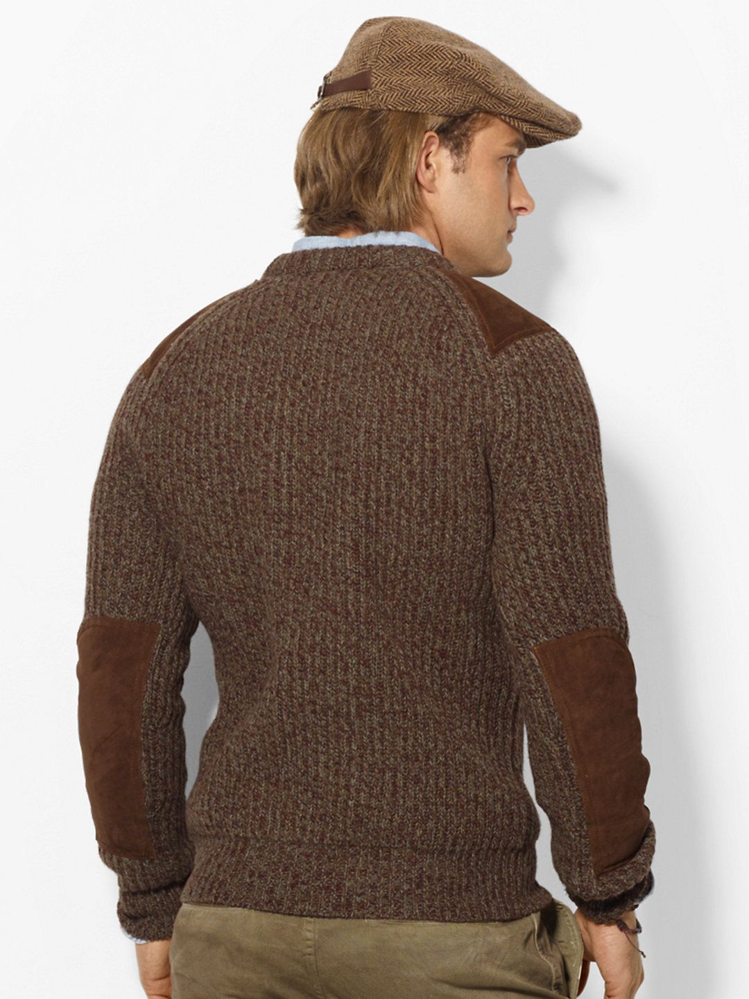 Ragg Wool Patch Sweater - Crewneck Sweaters - Ralph Lauren France ...