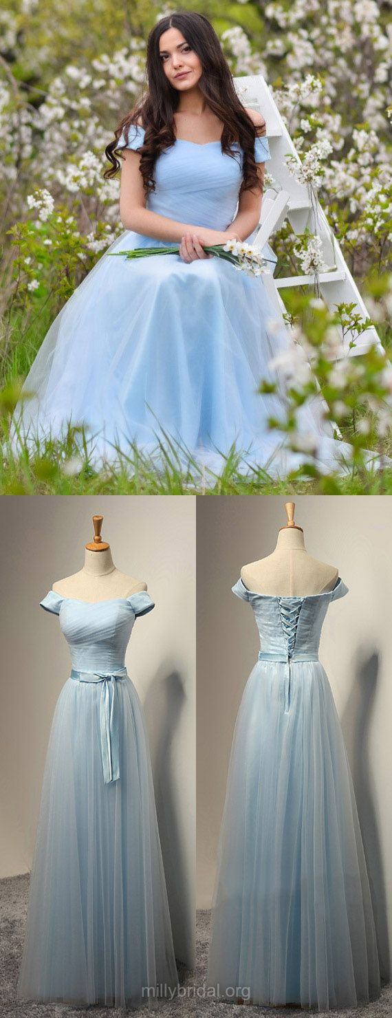 Blue bridesmaid dresses long bridesmaid dress offtheshoulder