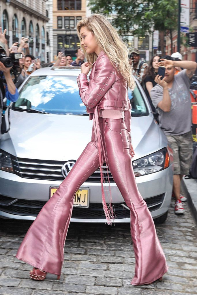 3325a51a2 Gigi Hadid Looks Like the Most Glam Barbie in This Pink Outfit