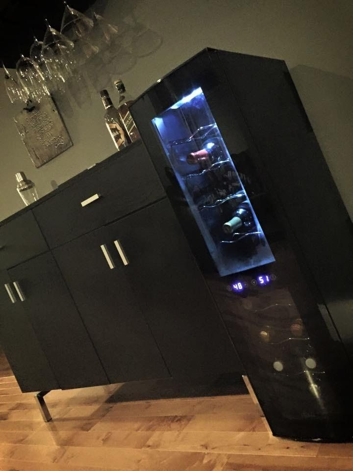 AmazonSmile: Haier 18-Bottle Dual Zone Curved Door with Smoked Glass Wine Cellar: Appliances