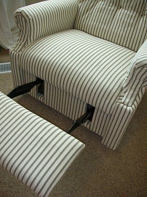 Diy Reupholster An Old La Z Boy Recliner Pinterest