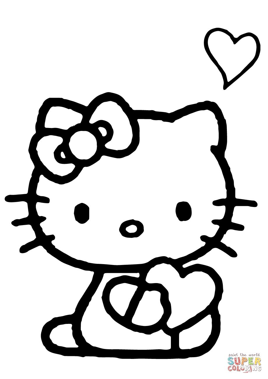 Hello Kitty Heart Coloring Pages Hello Kitty Heart Coloring Pages Hello Kitty Coloring Hello Kitty Colouring Pages Hello Kitty Drawing