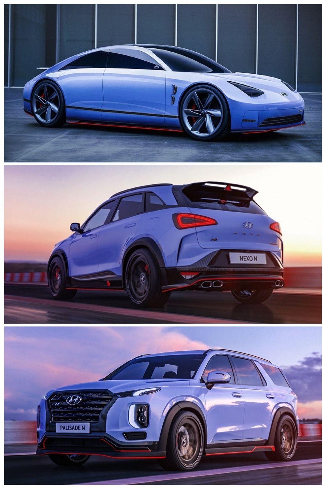 Hyundai Nexo N Palisade N And Prophecy N Look Too Good To Be True Hyundai Hyundai Cars Baby Blue Paint