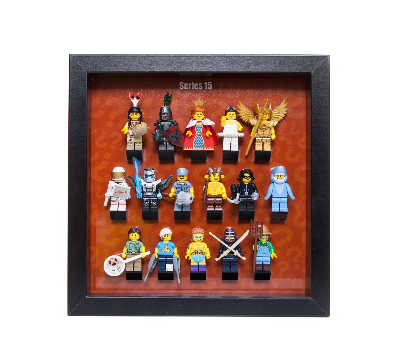 Lego Frame Display Acrylic Mount insert Series 15  minifigure minifig LASER CUT acrylic  FREE p&p