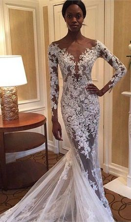 Sheer Mermaid Prom Dresses