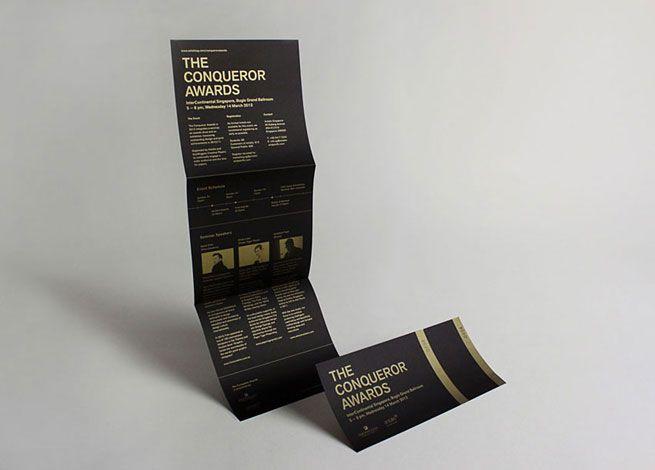 Conqueror Awards in 2012 | Studio: SILNT - http://www.silnt.com - Love the matte gold on matte black