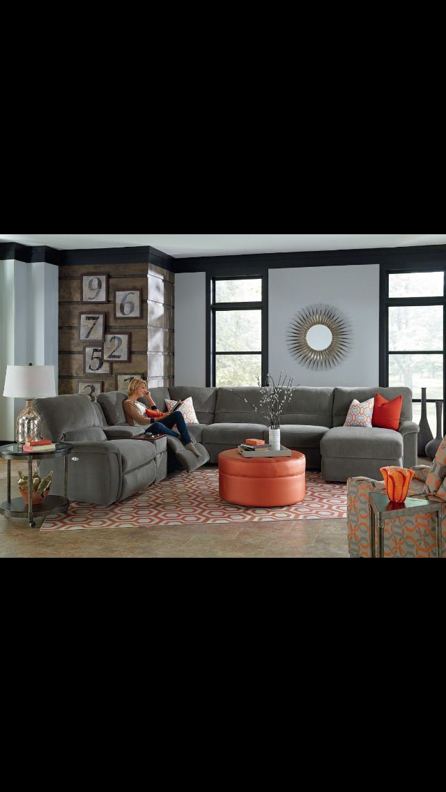 Lazy Boy Design A Room: Sectional Sofa With Recliner, Living Room