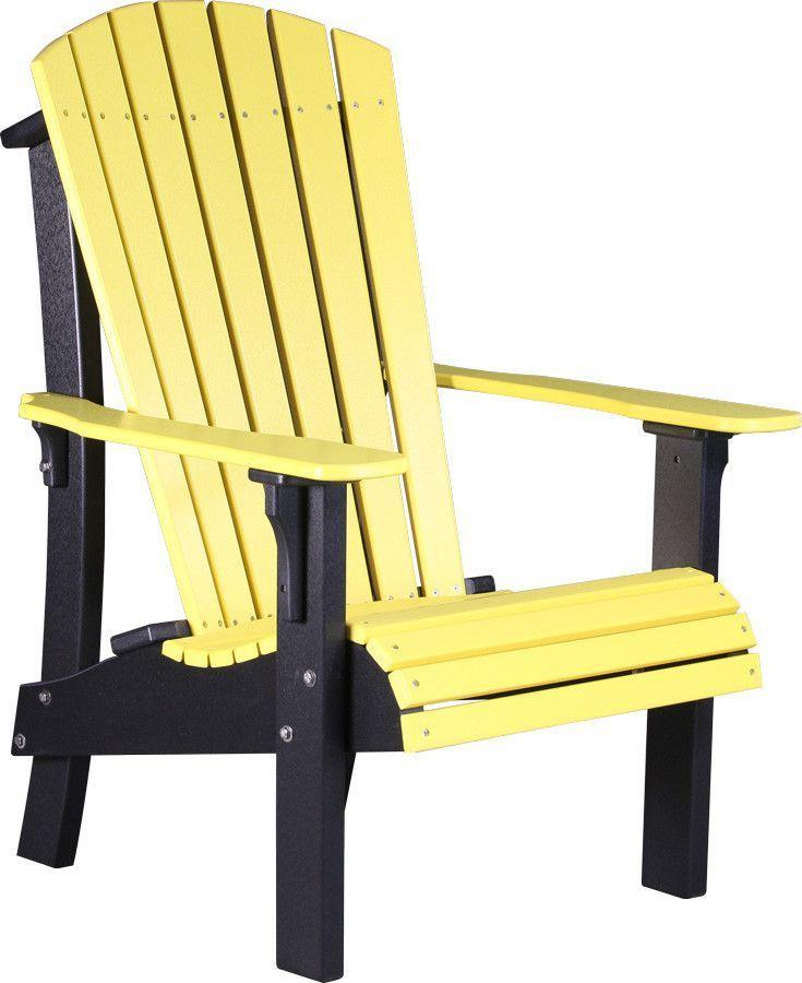 LuxCraft Recycled Plastic Senior Height Adirondack Chair