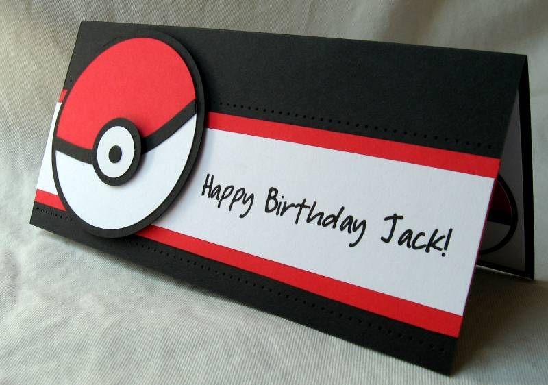 Pokemon Birthday Card Need To Make For My Grandsons Bday Pokemon Birthday Card Birthday Cards Pokemon Birthday