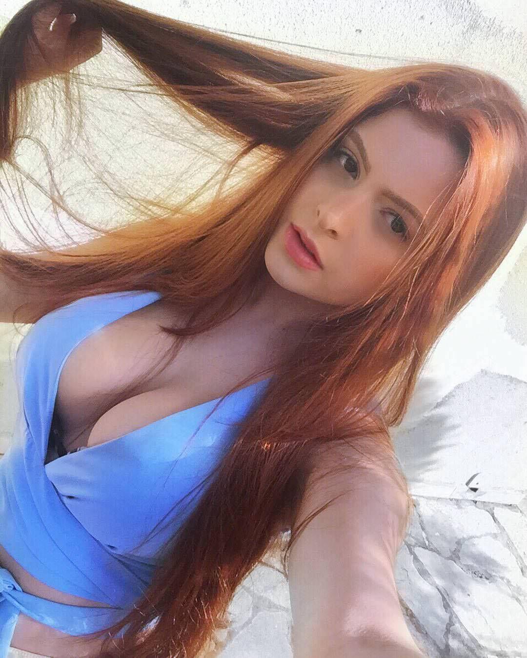 Sexy hair babes, hot girl poses as warriors
