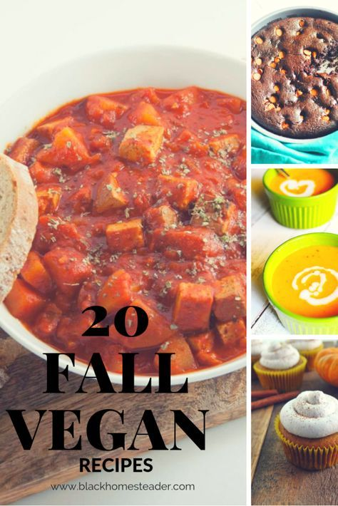 20 Fall Vegan Recipes Vegan Recipes Pinterest Vegan