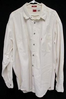 Levi's Men's Size XXL Cream Colored Button Down Shirt Loose Fit ...