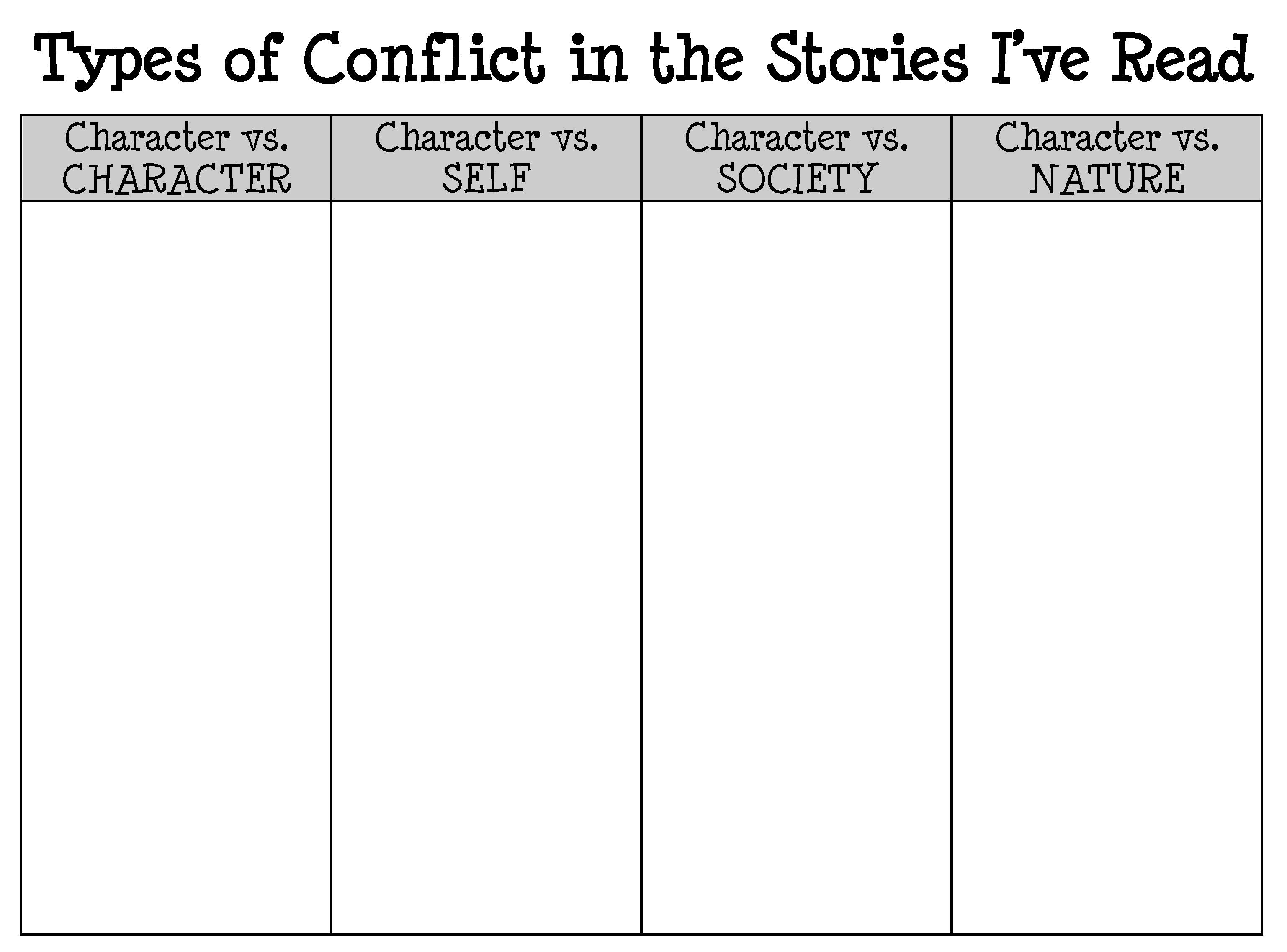 Sort Fictional Reads By Conflict With Images