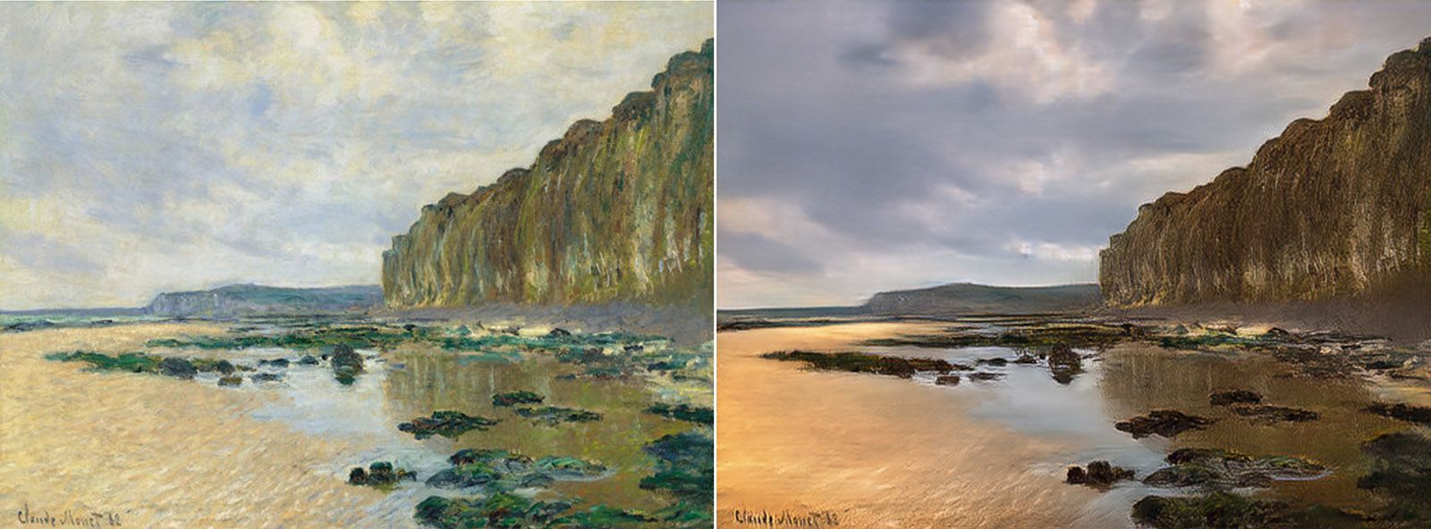 Reverse Prisma Ai Turns Monet Paintings Into Photos Monet Paintings # Muebles Fiesta Metronorte
