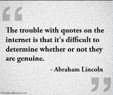 Abe was ahead of his time...