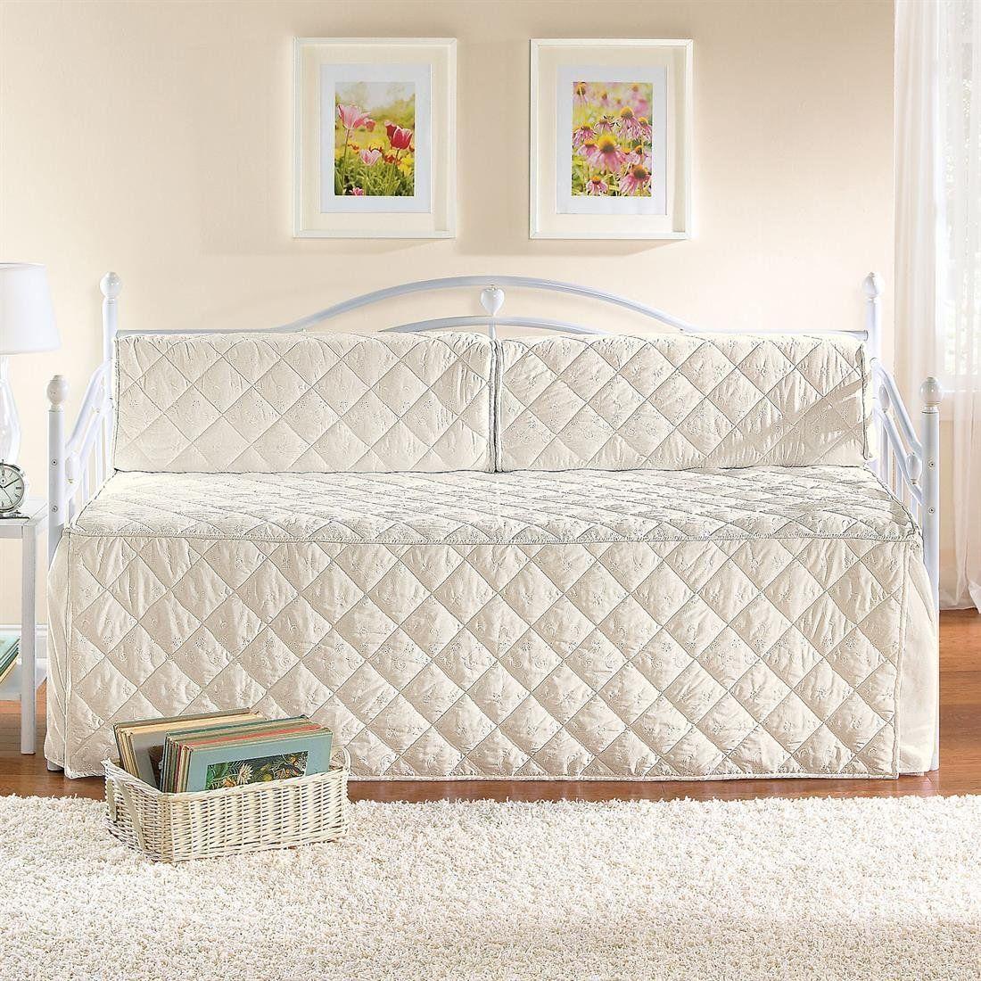 White Eyelet Daybed Set Daybed Bedding Sets Daybed Bedding