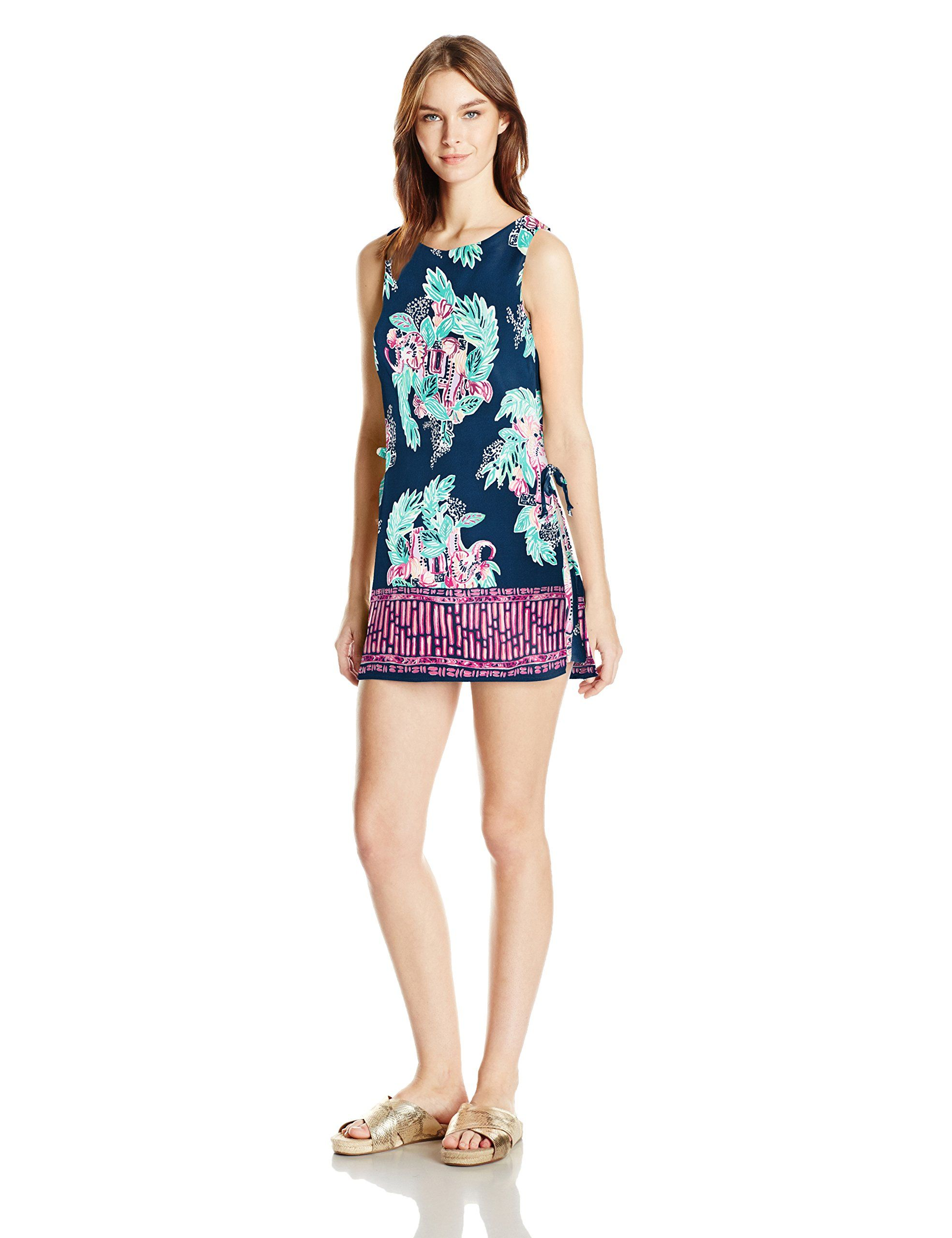 e90f00a913 Lilly Pulitzer Womens Donna Inky Navy Peanut Gallery Engineered ...