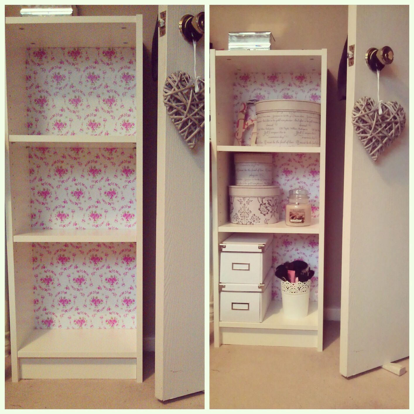 My Shabby Chic Billy Bookcase. Using Floral Sticky Back