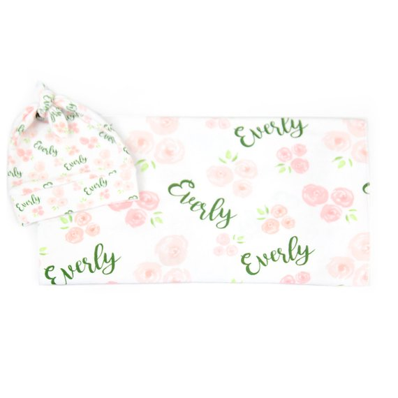 Personalized Baby Blanket And Headband