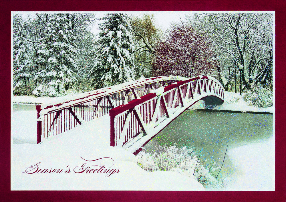 Still Wandering Bridge Personalized Holiday Cards https ...