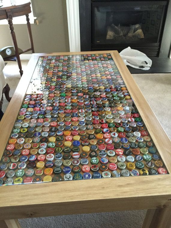 Custom Beer Cap Table By Peuplierappalaches On Etsy For