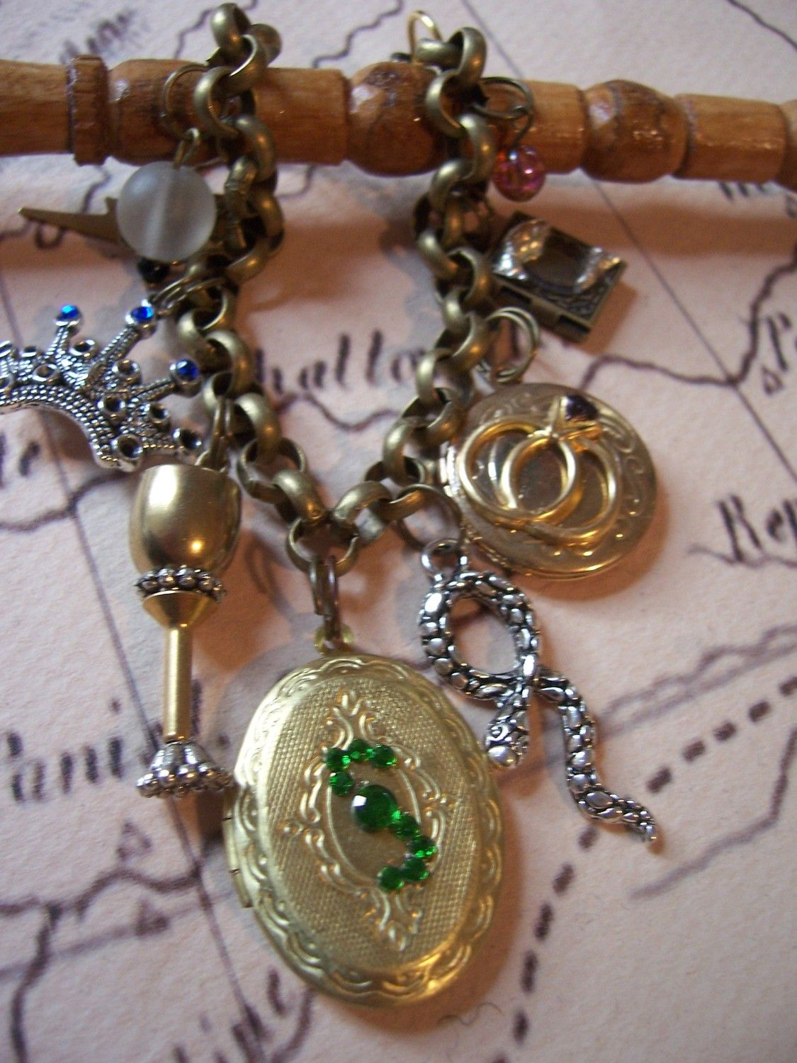 Harry Potter Horcrux Charm Bracelet, All 7 horcrux's. $37.99, via Etsy.