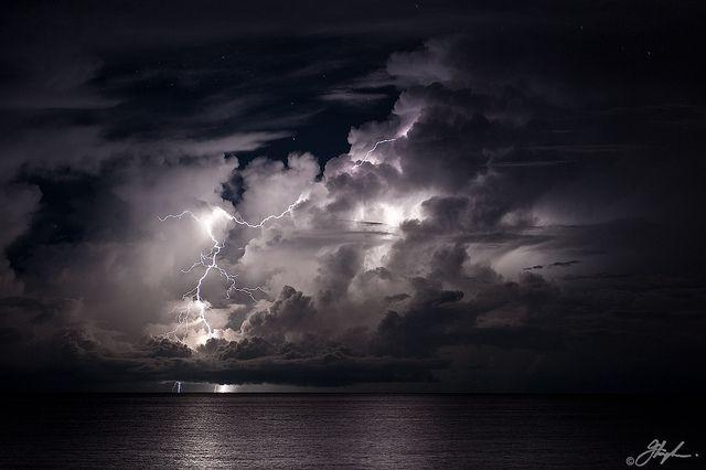 Overnight thunderstorm on the Tiwi Islands, 70km north of Darwin NT, AU