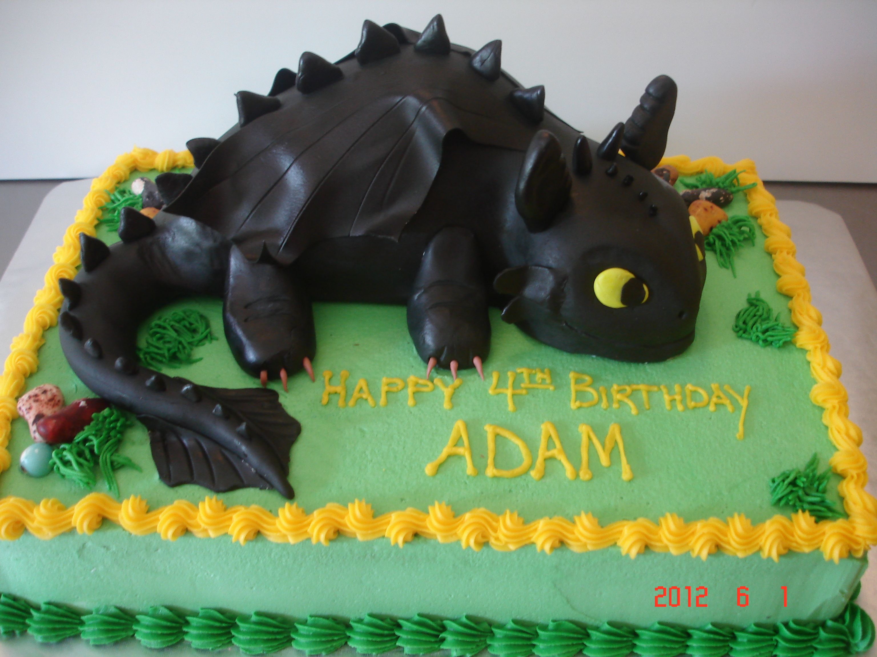 How To Train Your Dragon Toothless Dragon Birthday Cakes Toothless Cake Cake
