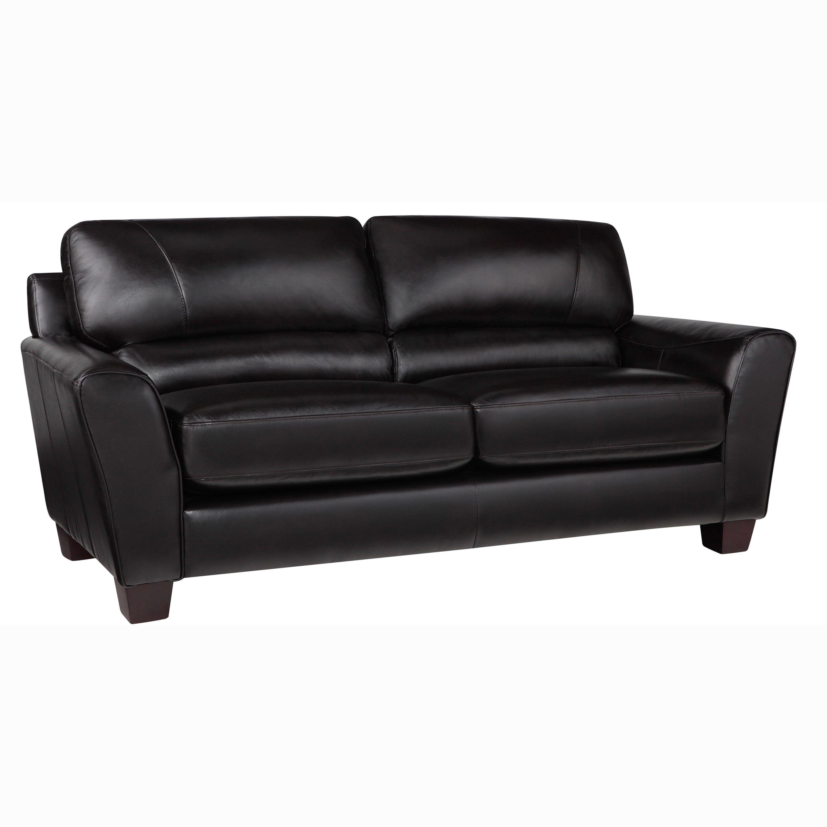Espresso Dark Brown Italian Leather Sofa