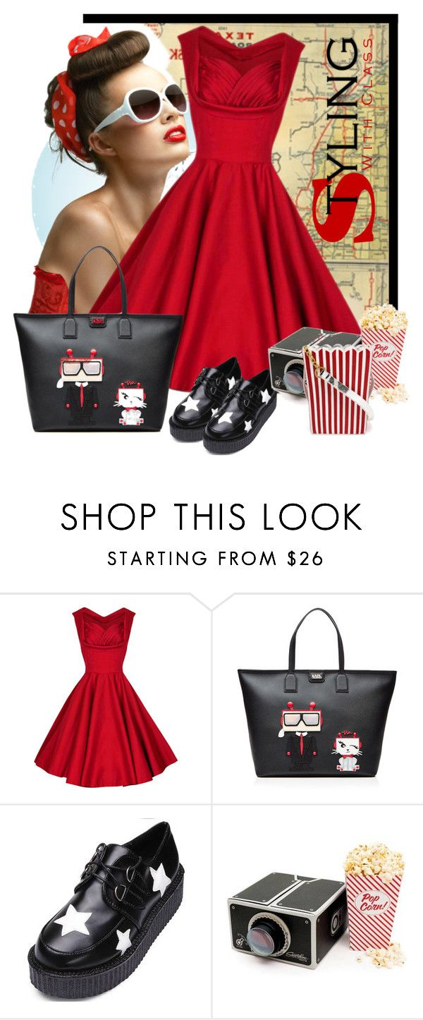 """Styling With Class"" by nightowl59 ❤ liked on Polyvore featuring Retrò, Karl Lagerfeld and MUA MUA"