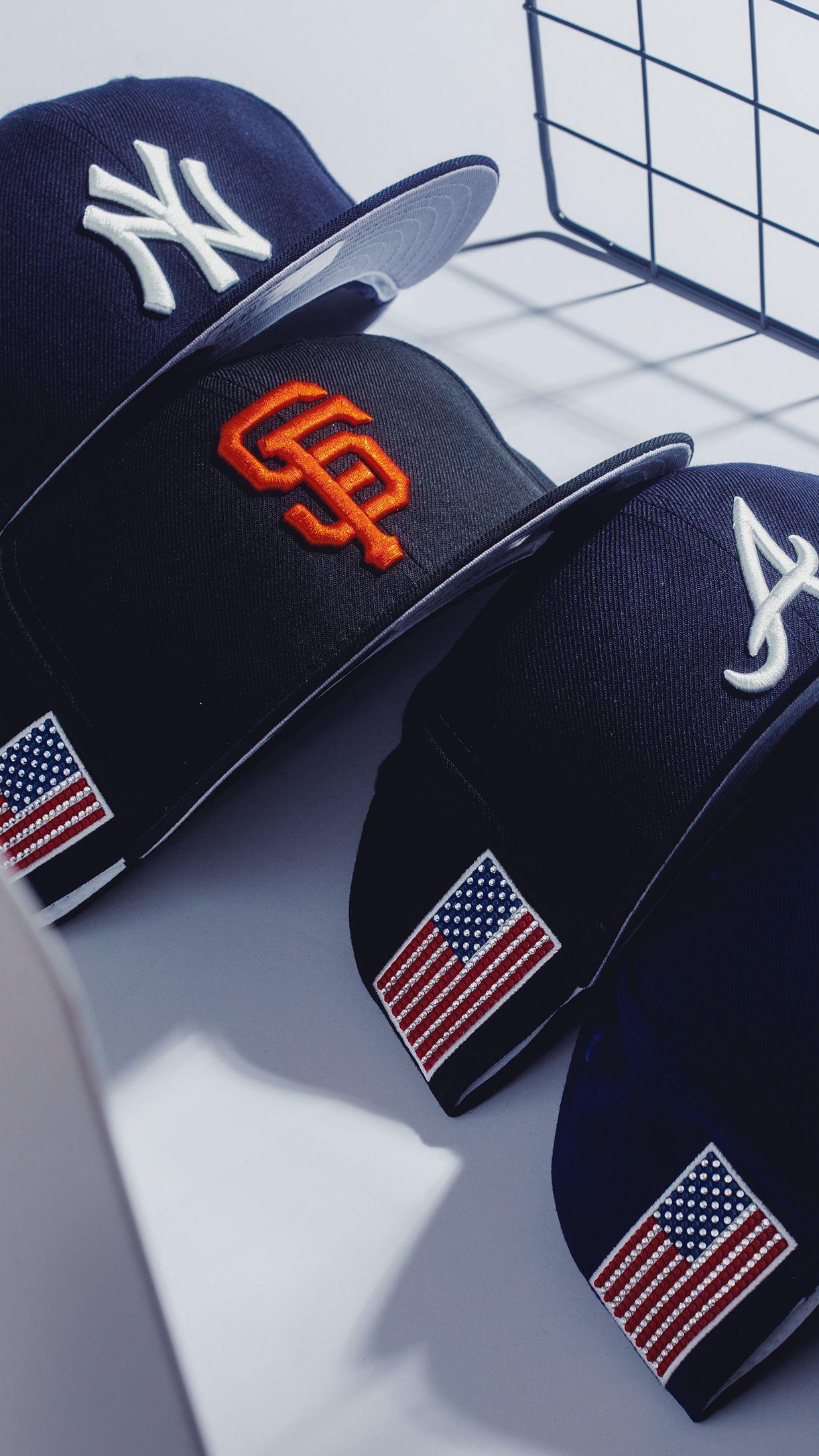 New Era X Swavorski Custom Fitted Hats Fitted Hats Mens Streetwear