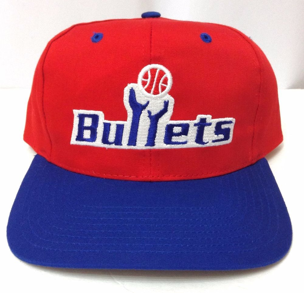 b55837a14e3505 NWT Vtg 90s WASHINGTON BULLETS SNAPBACK HAT Red/Blue/White Twins Ent  Wizards NBA #TwinsEnterprisesInc #WashingtonBullets