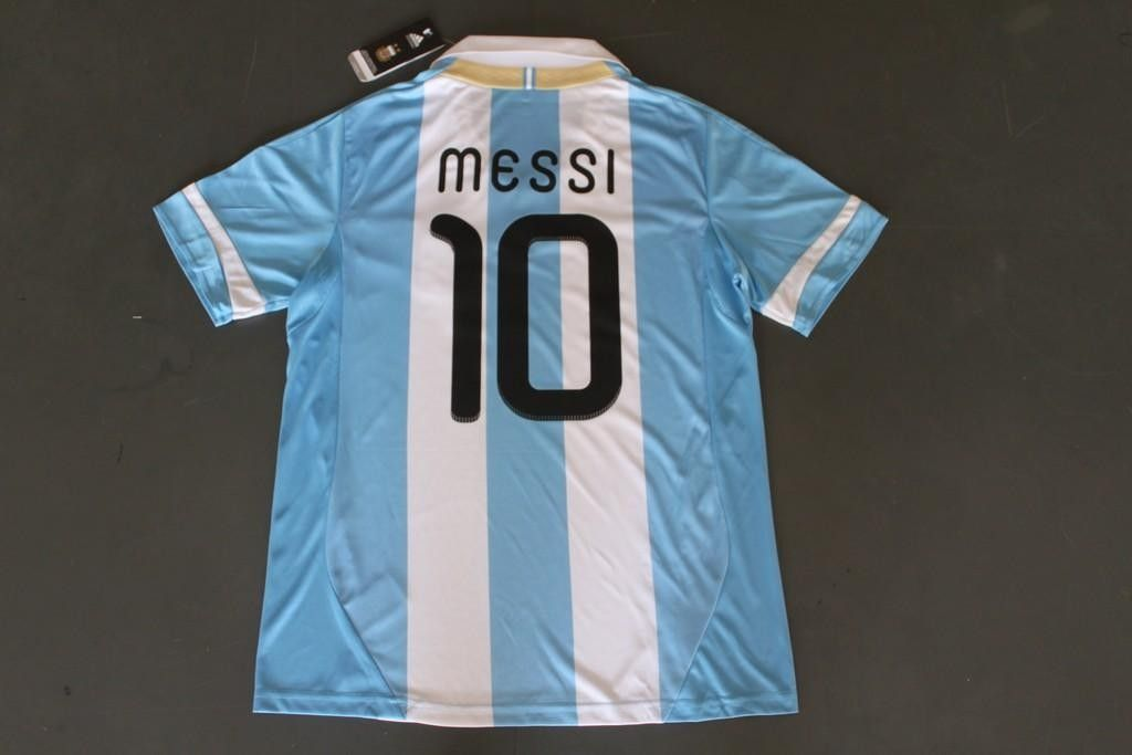 new product e5360 0e1da MESSI 10 Argentina 11/13 home blue/white football jersey and ...