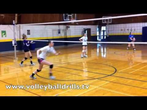 Volleyball Middle Blockers Drill Transition To Slide Approach Volleyball Workouts Coaching Volleyball Volleyball Drills