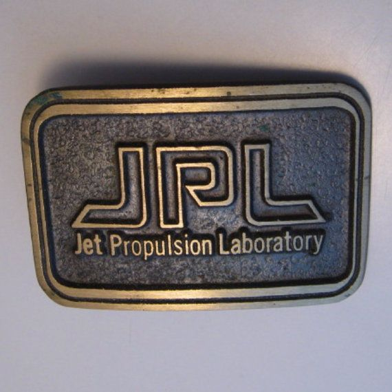 Belt Buckle 1970 Svintage Jet Propulsion Laboratory Jpl With Images Belt Buckles Propulsion Belt