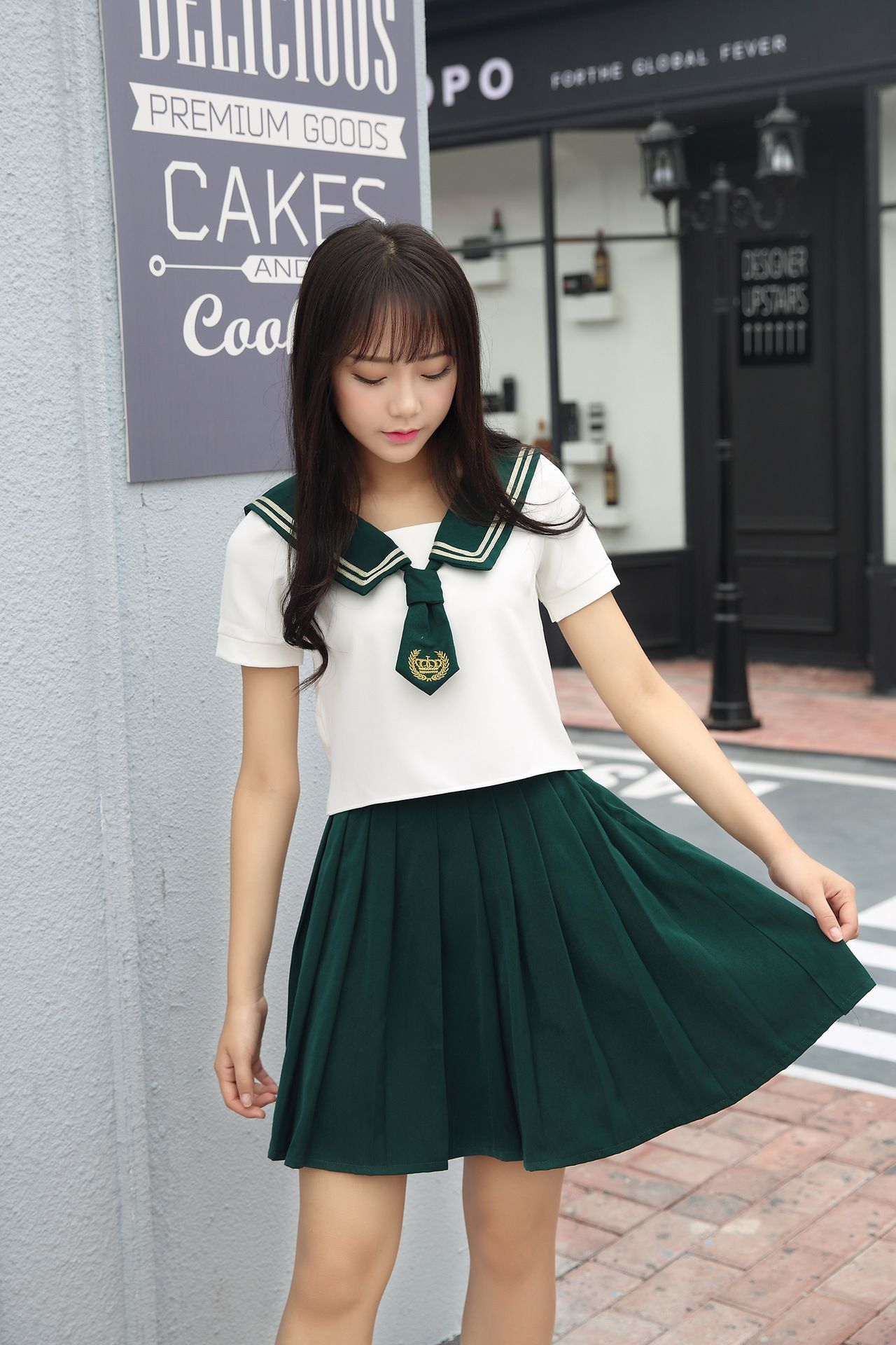 High Quality Girl Japanese Uniform Sailor School Uniform -4349