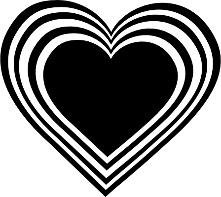 hearts clip art black and white heart necklace free clip art rh pinterest ca