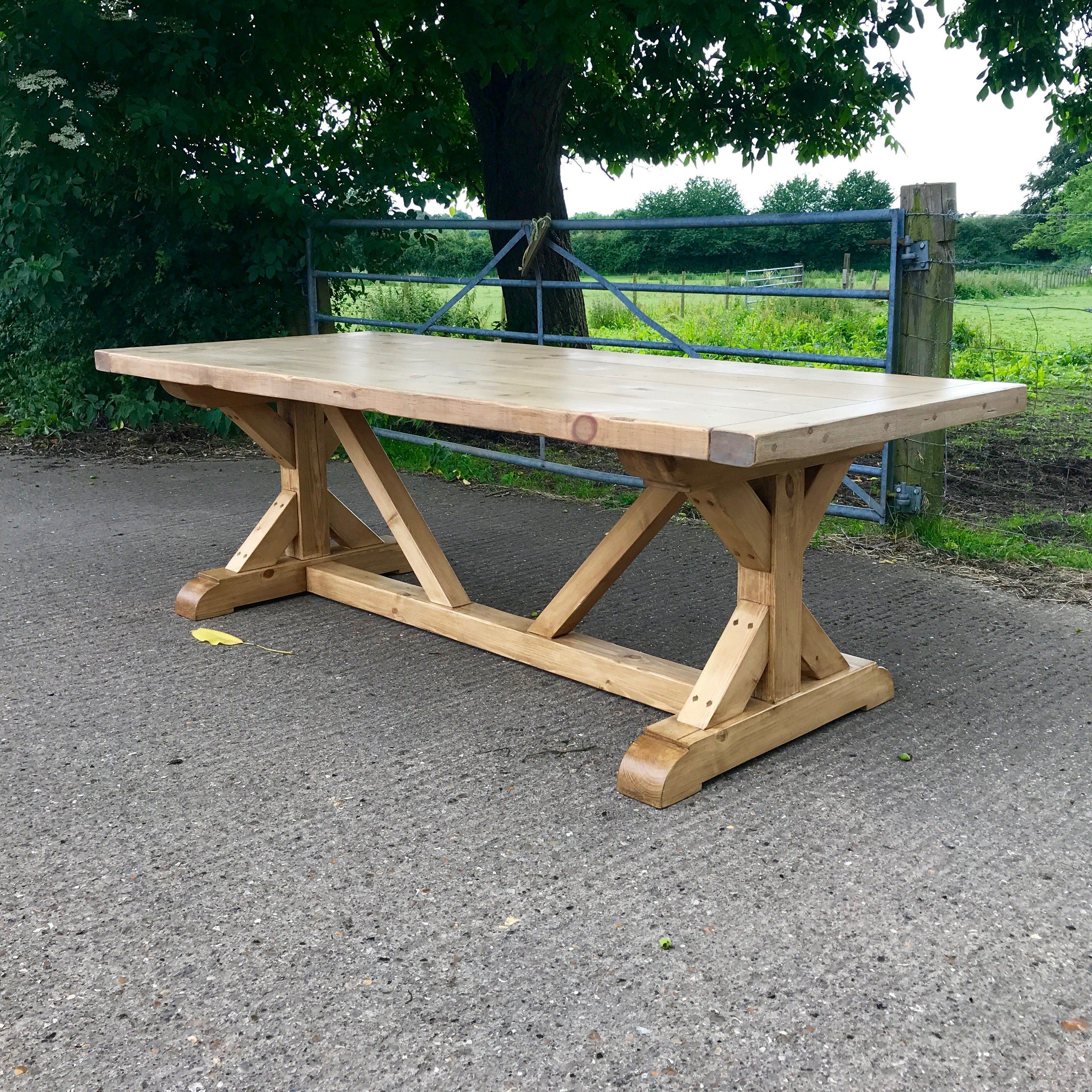 The Monastery X Table - 7'(2.1m) x 31.5(0.8m) / Downpipe