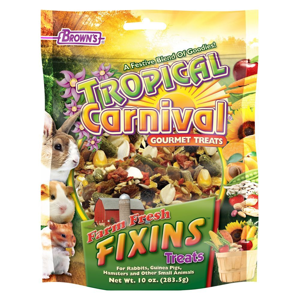 Brown S Tropical Carnival Farm Fresh Fixins Small Animal Treats Small Pet Supplies Pet Treats Pet Supplies