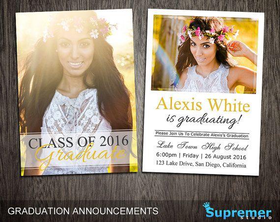 Graduation Announcements Templates Graduation Card Templates Etsy Graduation Announcement Template Graduation Announcements Graduation Card Templates