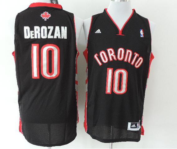 Men s NBA Toronto Raptors  10 DeMar DeRozan New Revolution 30 Black Jersey b7d977ec4
