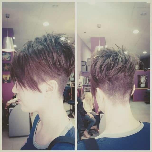 Brown Pixie haircut! Pelo corto, rapado