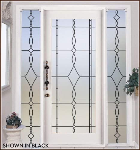 Put On 2 Windows Flanking My Front Door. Allure Leaded Glass Privacy Film  In 6 Stylish Colors   Wallpaper For Windows