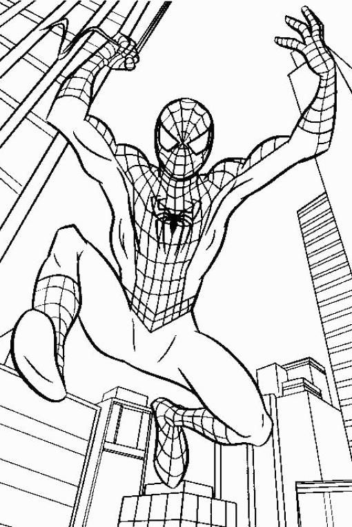 kids coloring pages spiderman | 50 Wonderful Spiderman Coloring Pages Your Toddler Will ...