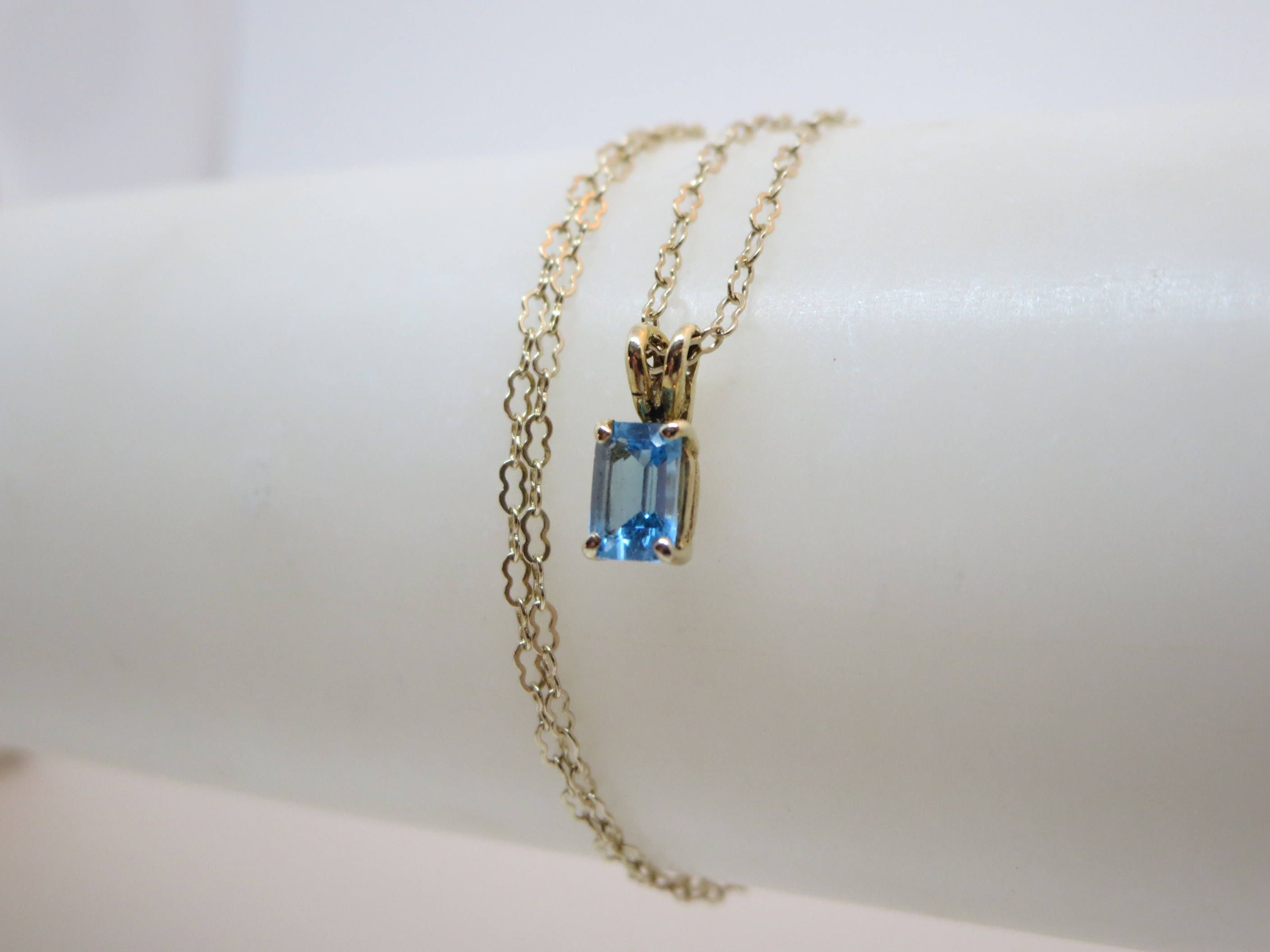 Aquamarine k gold chain march birthstone blue jewelry set lace