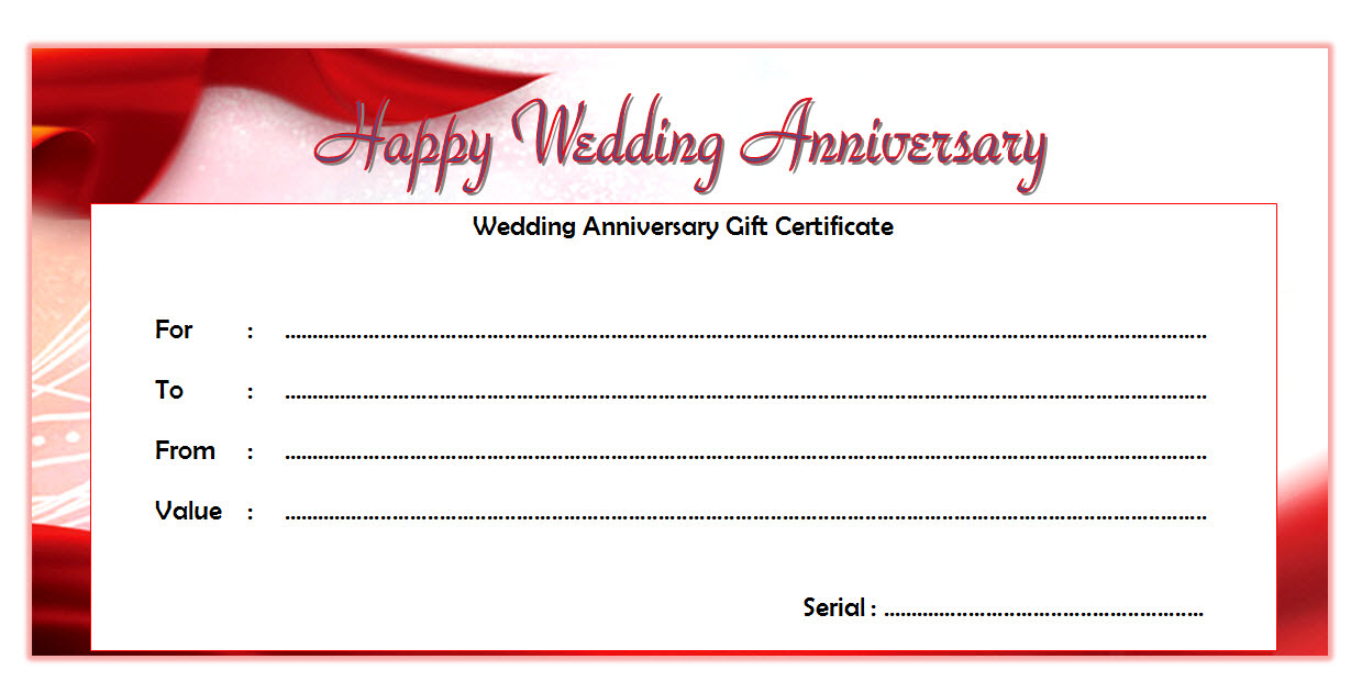 Happy Anniversary Gift Certificate Template Free 6 Happy Anniversary Gifts Gift Certificate Template Best Anniversary Gifts